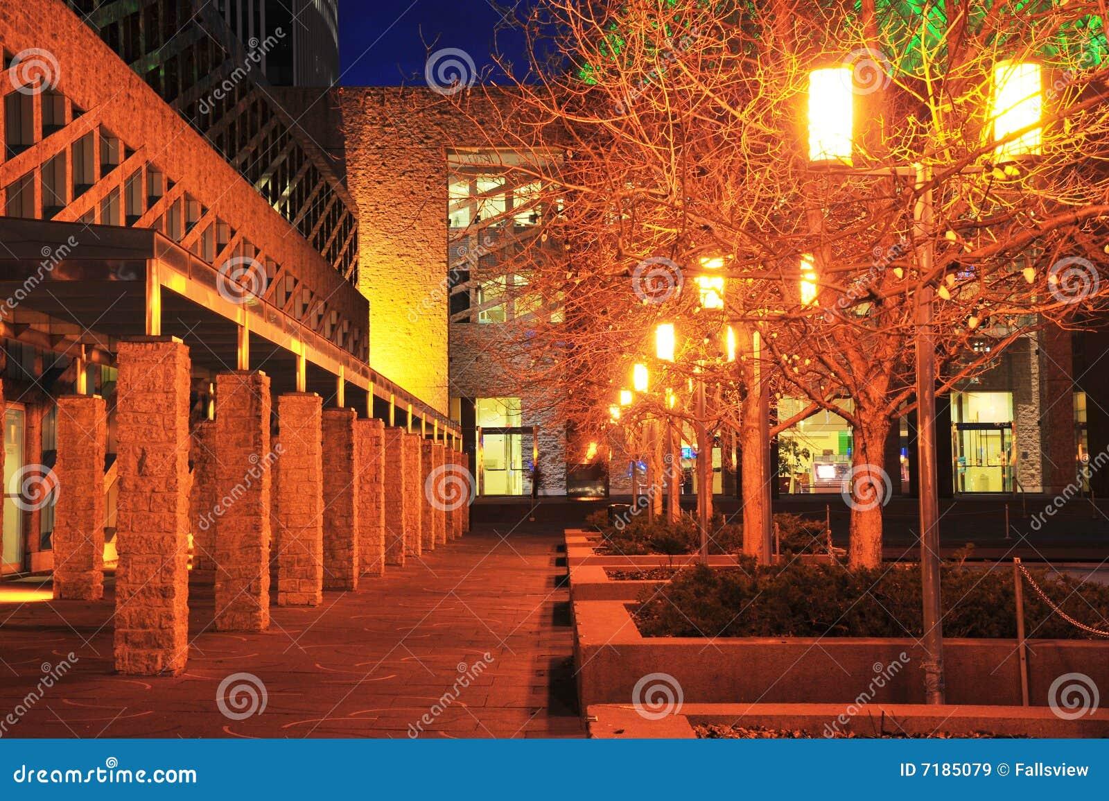 City hall night scene