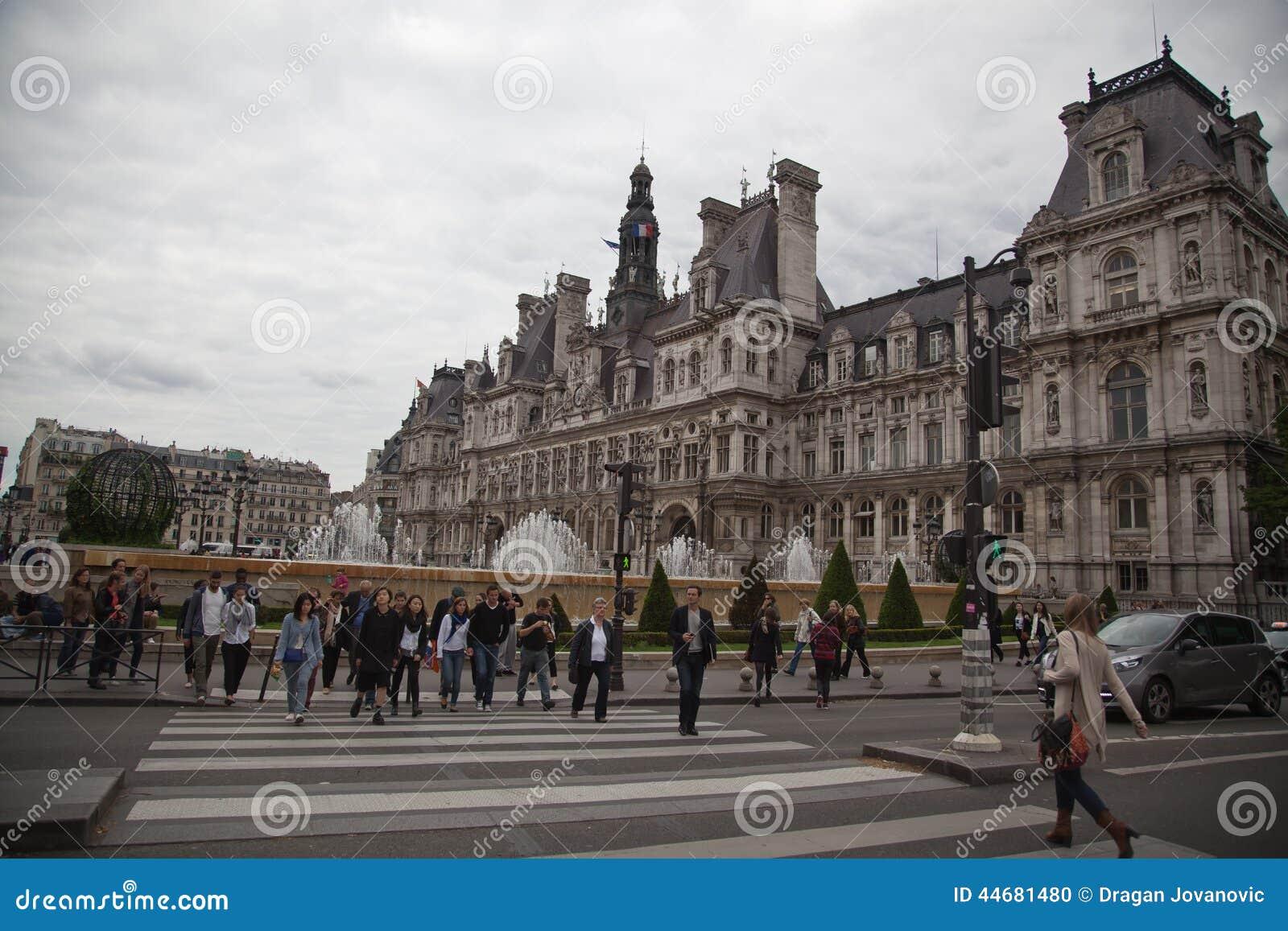 The City Hall Of Paris Editorial Image Image 44681480