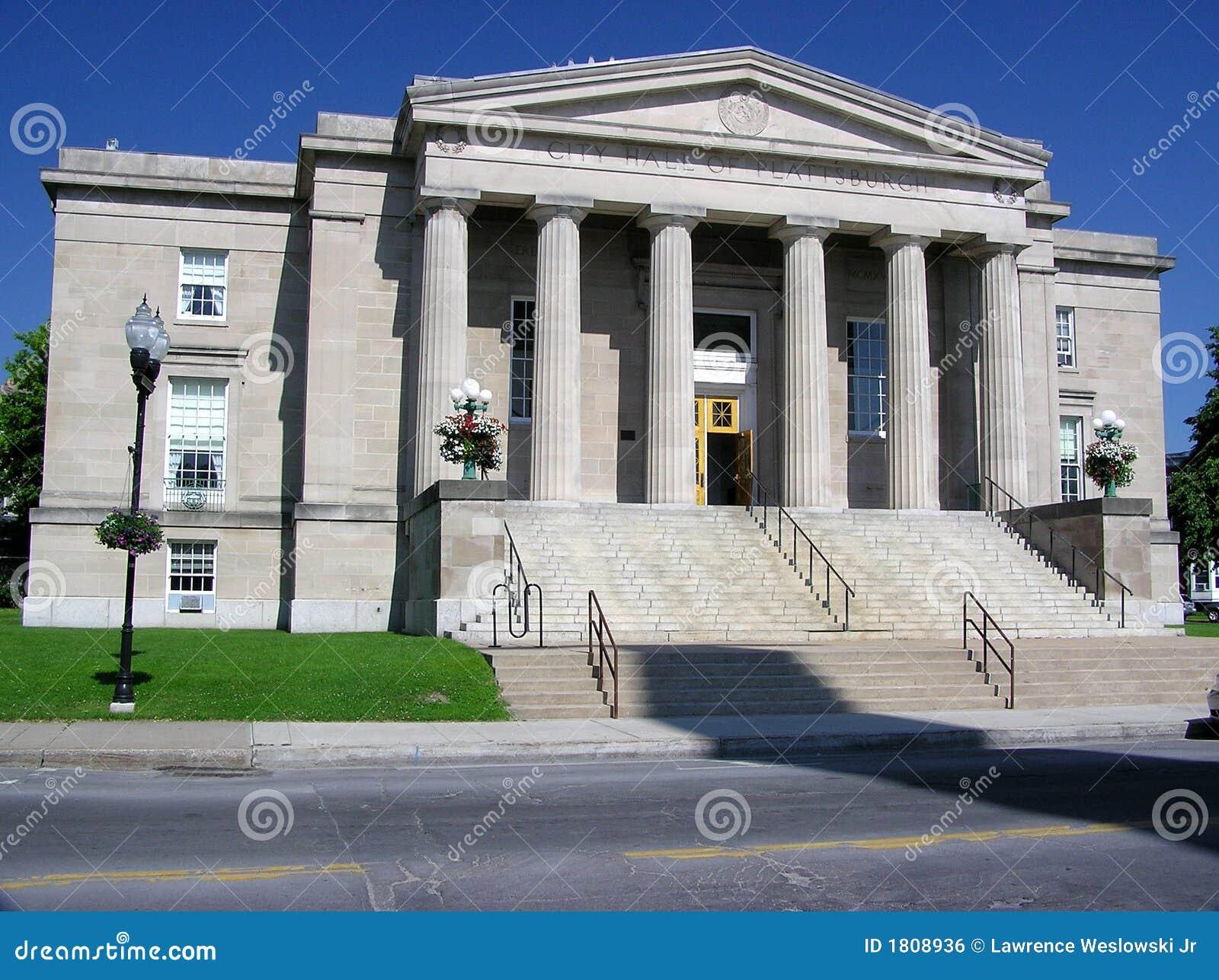 City Hall In Plattsburgh, New York Royalty Free Stock Image - Image: 1808936