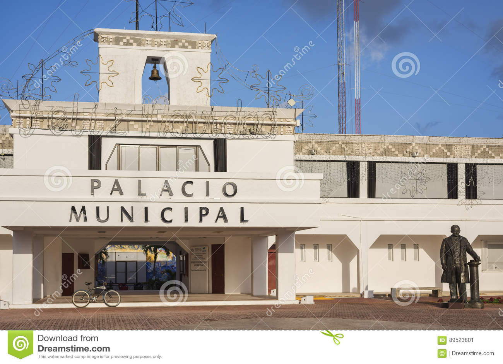 The City Hall of Playa del Carmen, Riviera Maya, Mexico