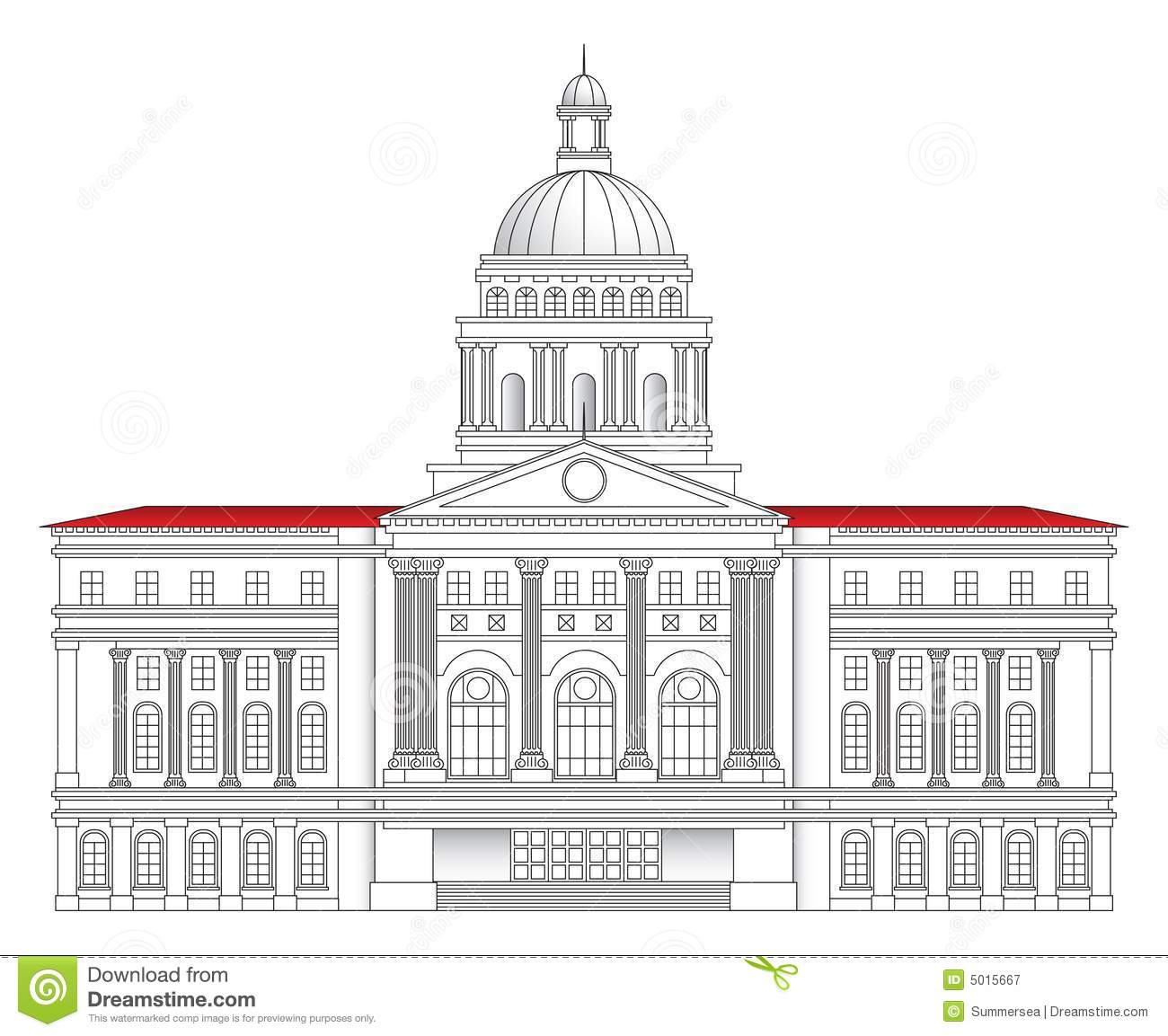 City hall vector illustration