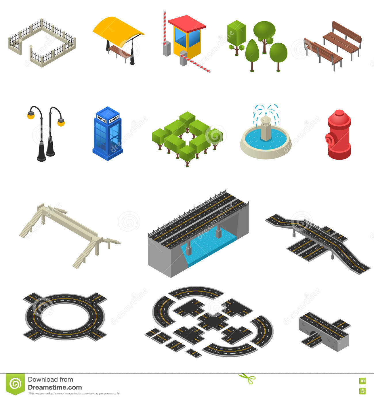 City and touristic map icons stock vector illustration of facility city isometric icons set royalty free stock images biocorpaavc Image collections