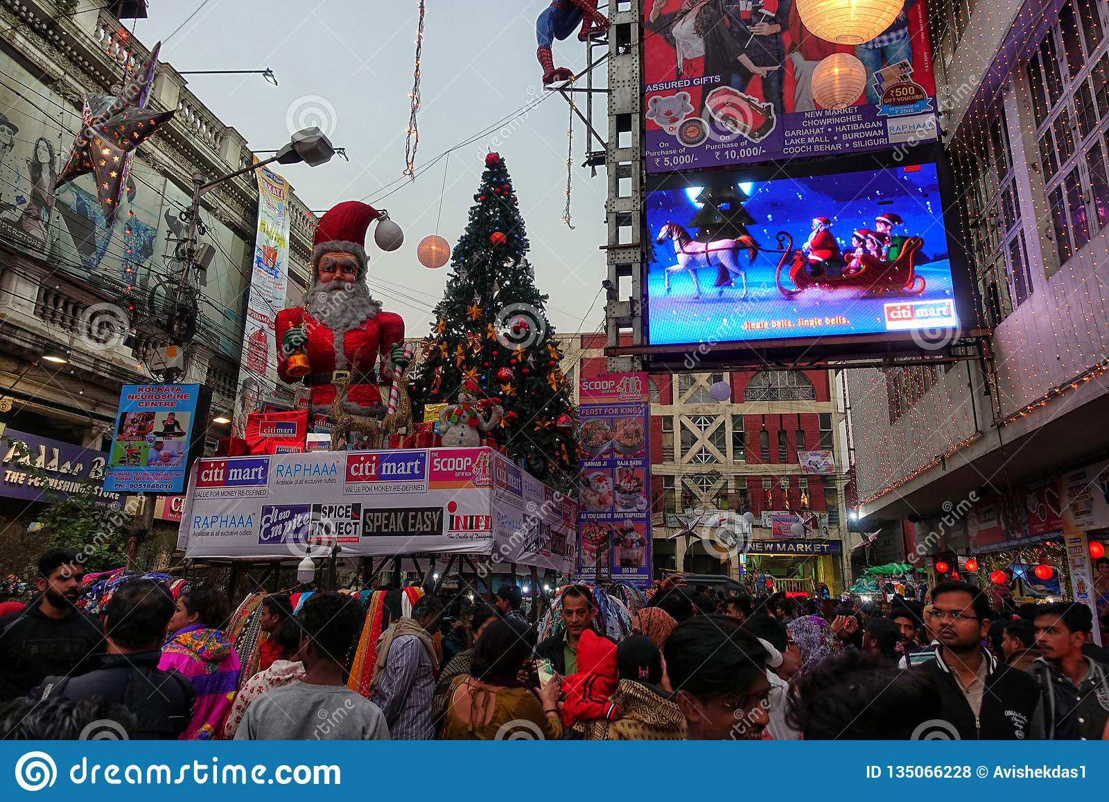 Christmas Day Celebration.Pre Christmas Celebration At Kolkata India Editorial Stock