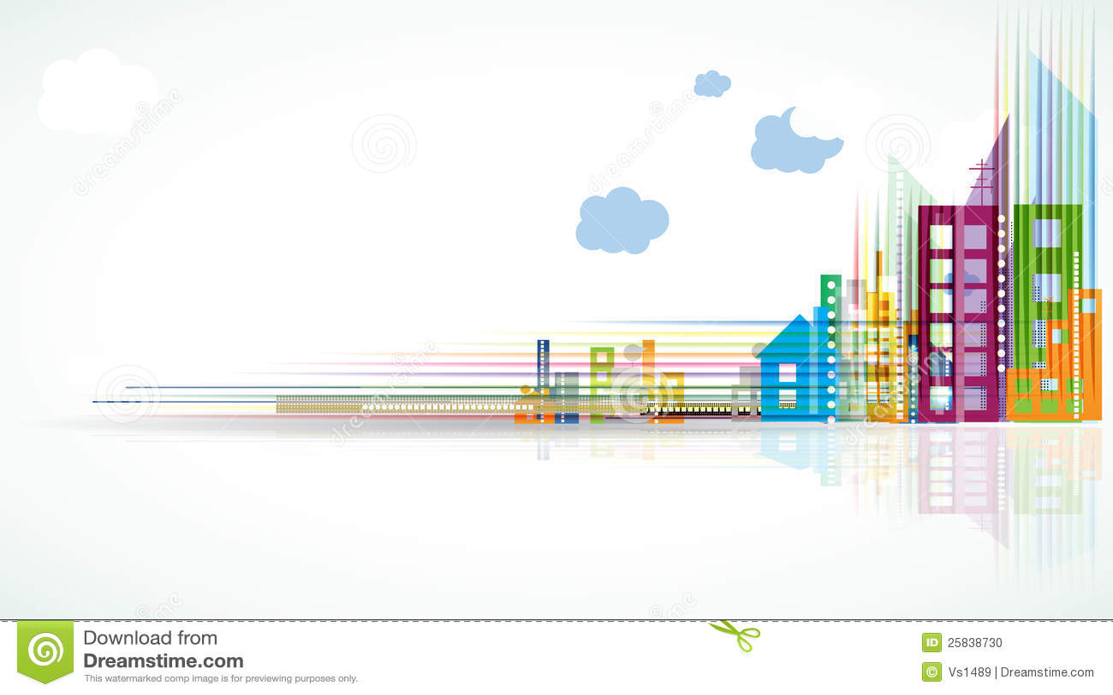 City Landscape Real Estate Background Banner Stock Photo