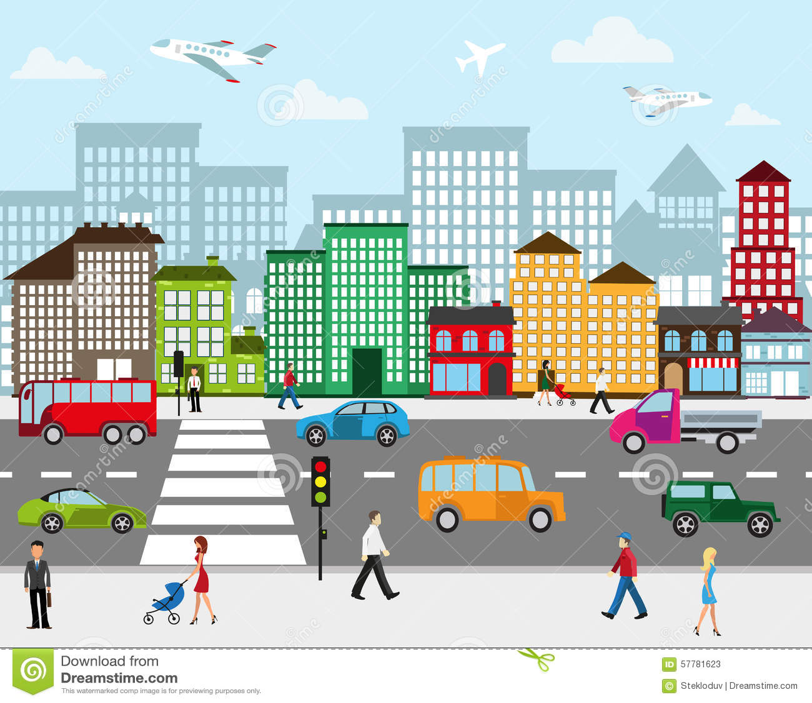 Urban View: City Landscape Stock Vector