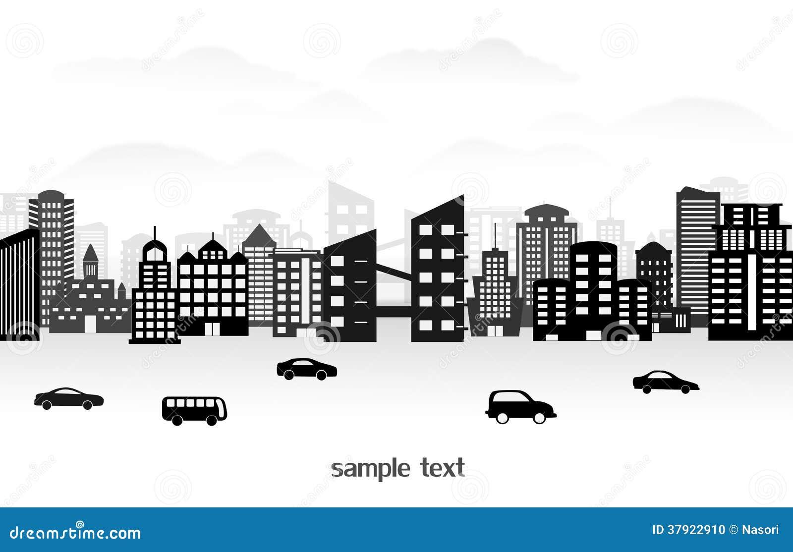 Town Landscape Vector Illustration: City Landscape Stock Vector. Illustration Of Town, Window