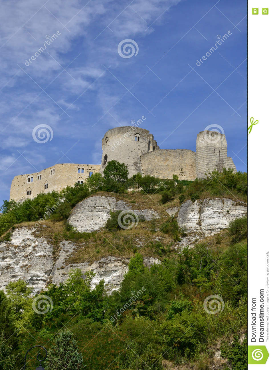 The City Of Les Andelys In Normandie Stock Photo Image Of Fort Gaillard 69493486
