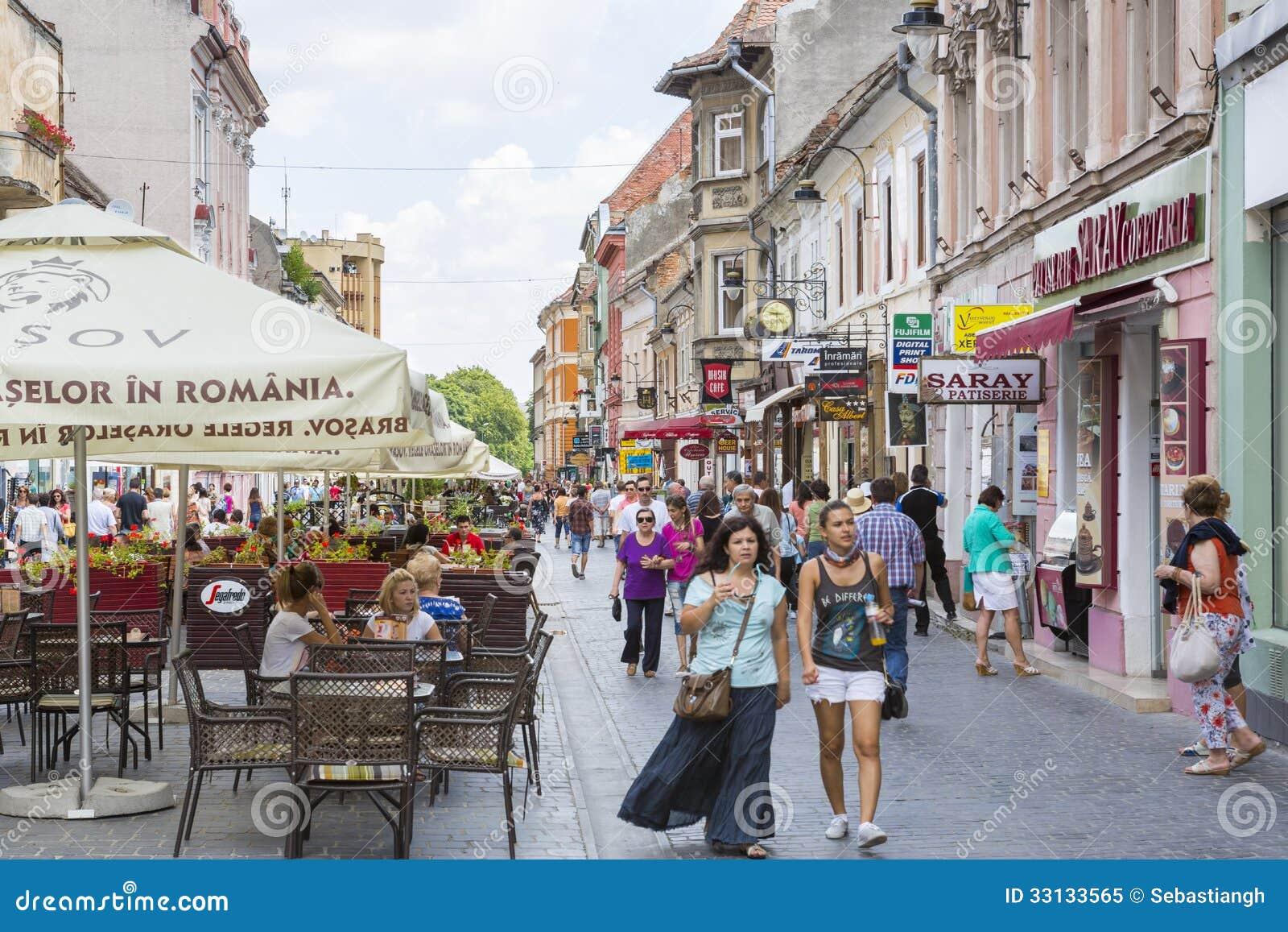 City Life In Brasov Romania Editorial Image Image 33133565