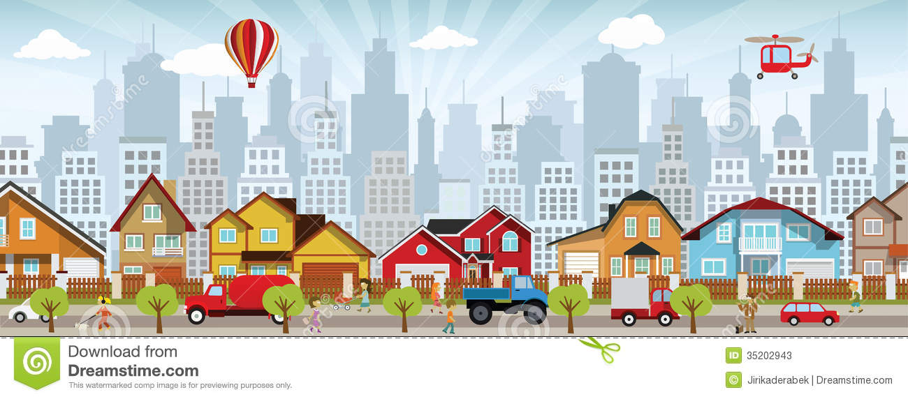 City Life Stock Vector Image Of Architecture Hand