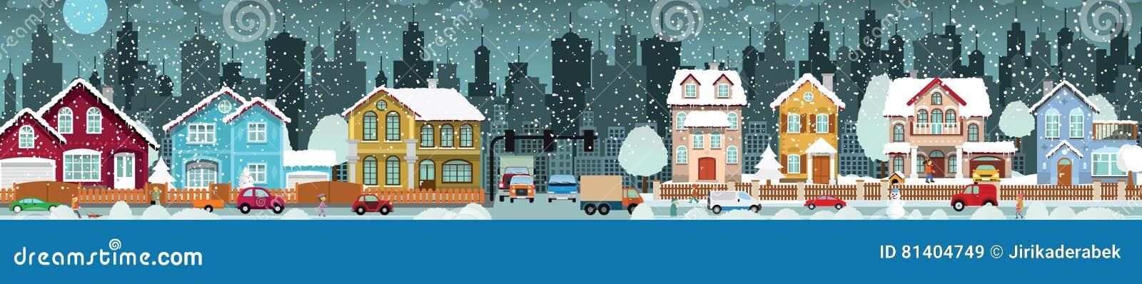 City life Winter