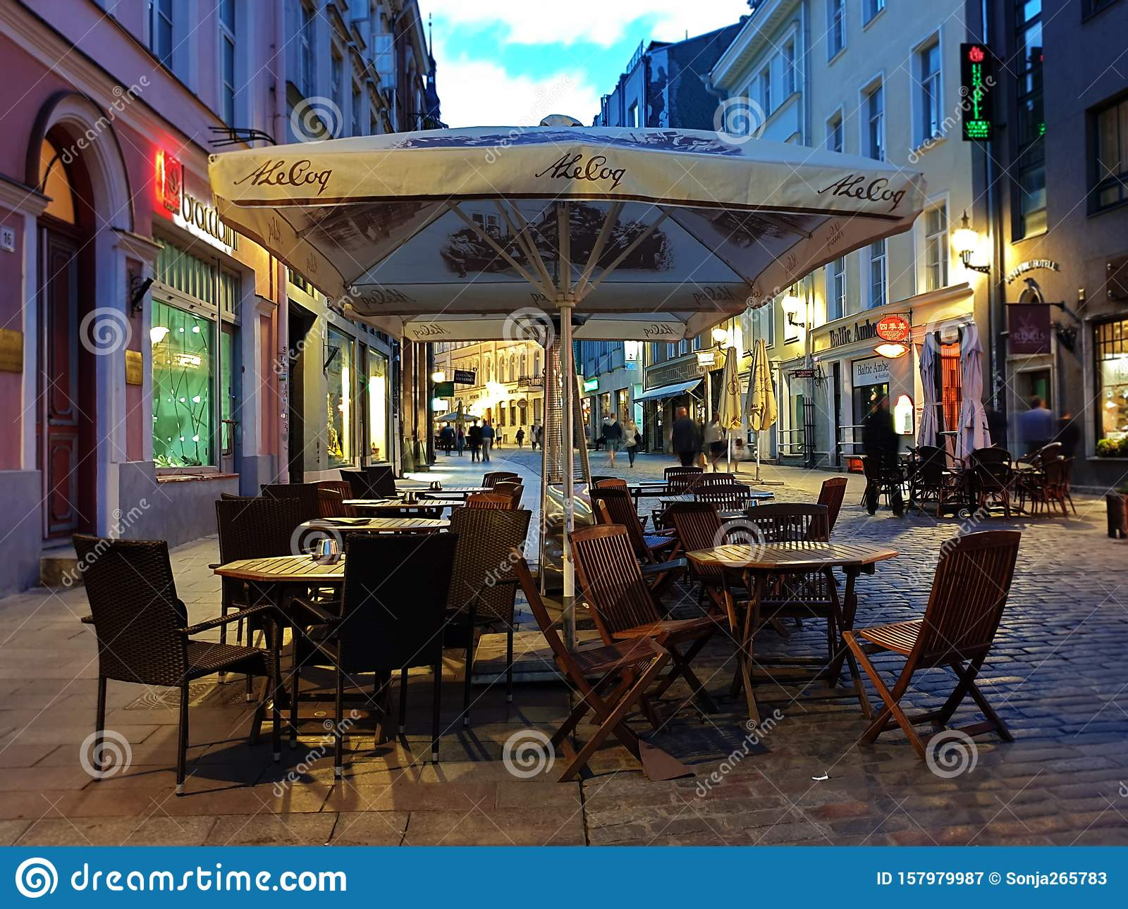 City Lifestyle Street Cafe Tables People Dinner Pink Light On Table Lifestyle Travel Restaurant City Light Old Town Tallinn Editorial Photography Image Of Restaurant Lifestyle 157979987