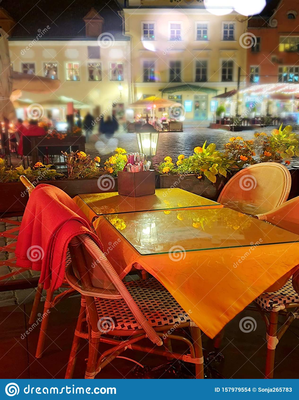 City Night Life Street Cafe Tables People Dinner Pink Light On Table Lifestyle Travel Restaurant City Light Old Town Tallinn Stock Photo Image Of People Colorful 157979554