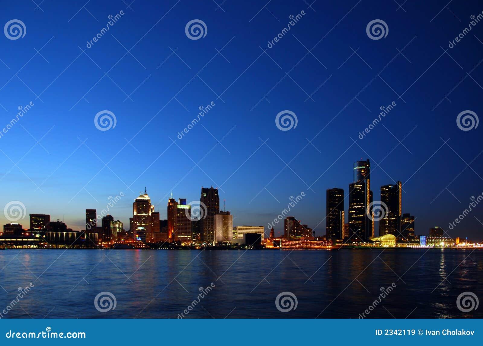 City lights night