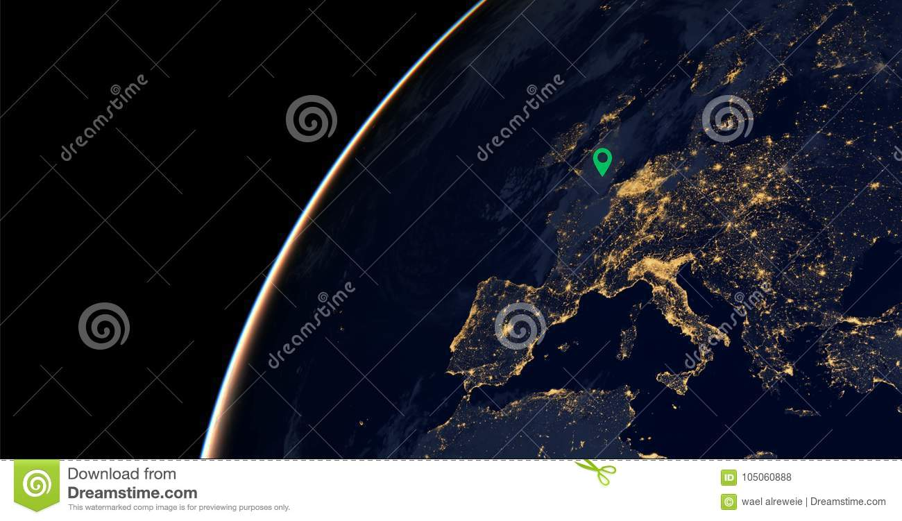 Europe city lights on world map europe elements of this image are download europe city lights on world map europe elements of this image are furnished gumiabroncs Image collections