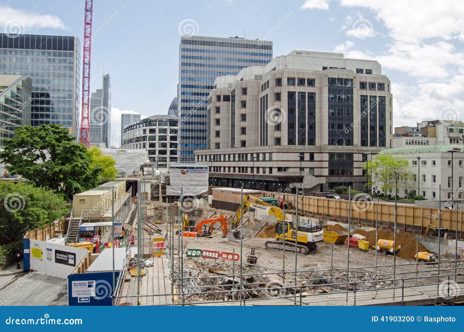 City of London building site