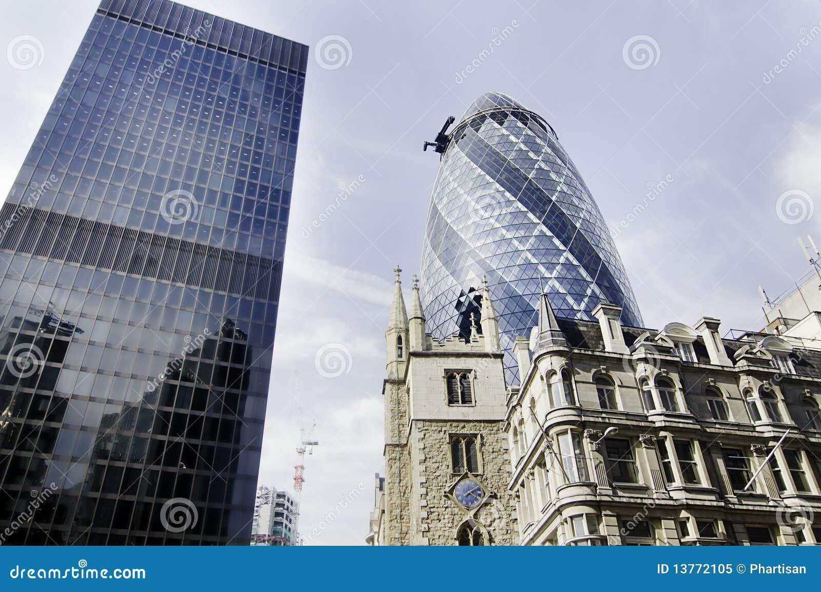City of London finacial buildings