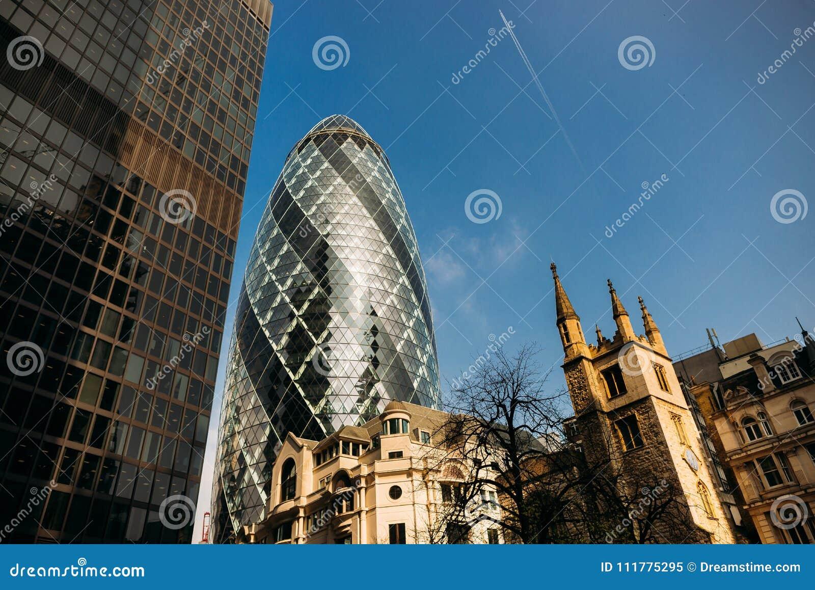 City of london office buildings gherkin uk