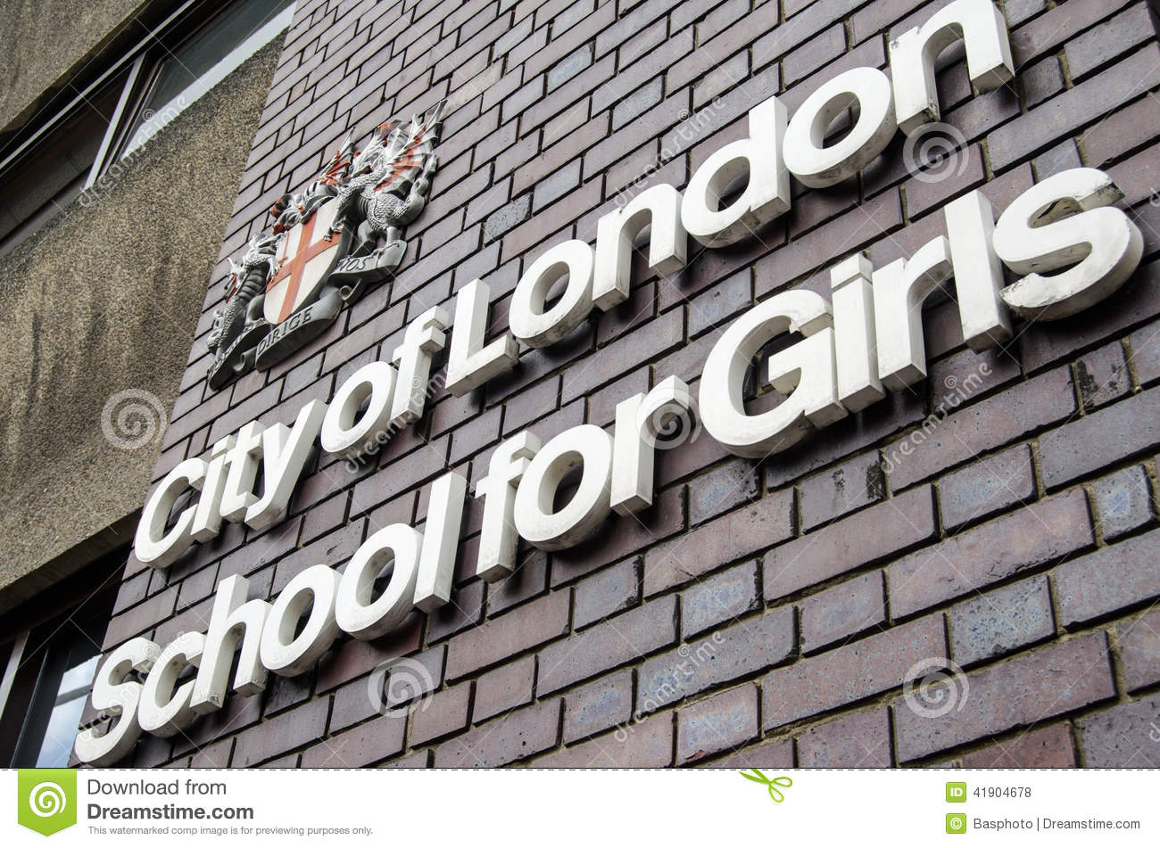 City Of London School Sign Editorial Stock Photo Image Of Sign 41904678