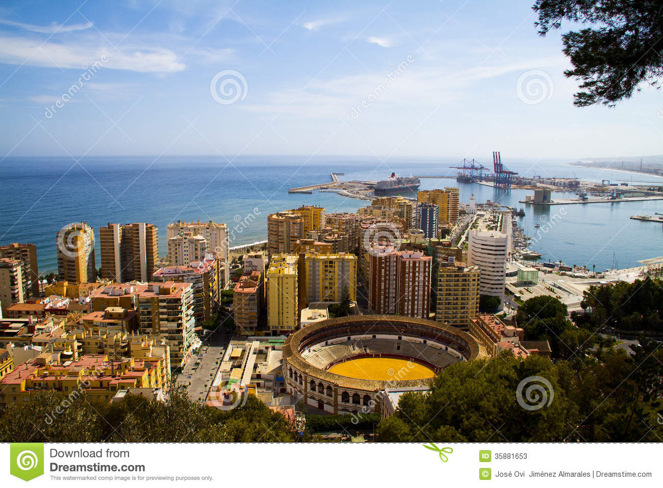 city of malaga stock image image of spain beach portraits 35881653. Black Bedroom Furniture Sets. Home Design Ideas