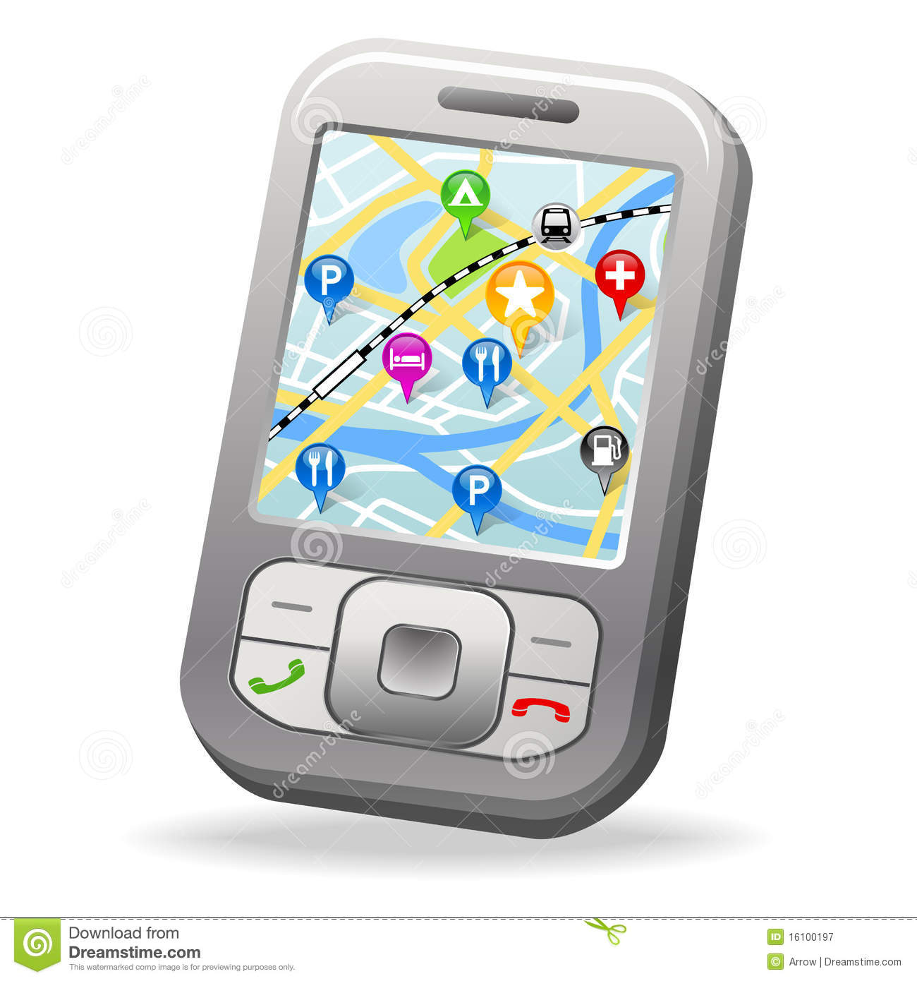 City Map on cell phone