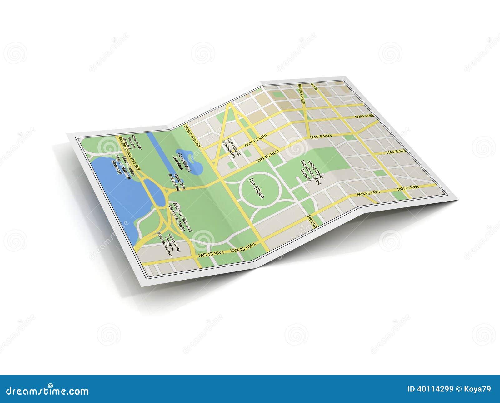 City Map 3d Illustration Stock Illustration Illustration Of Road