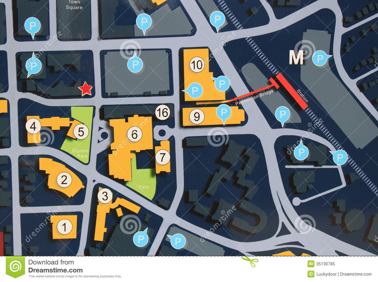 City street map royalty free stock photo image 35130785 for Location parking