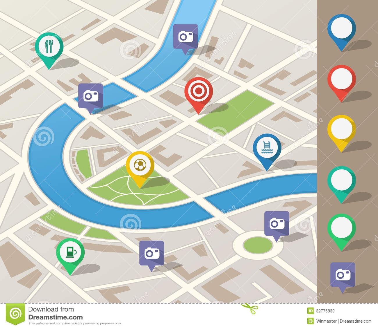 city map illustration royalty free stock images