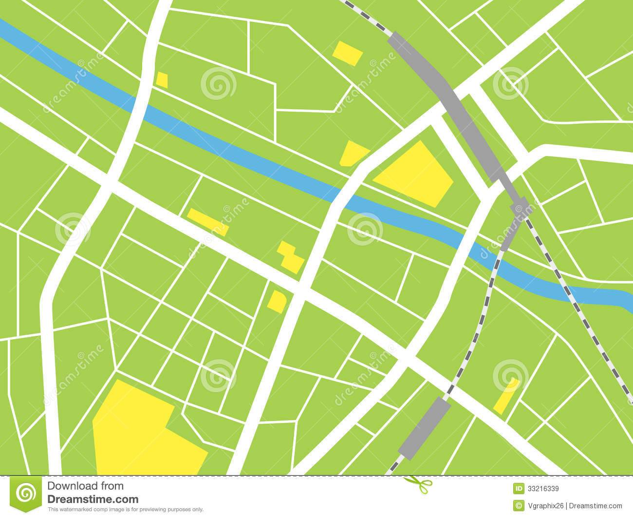 City Map  Vector Illustration Royalty Free Stock Images