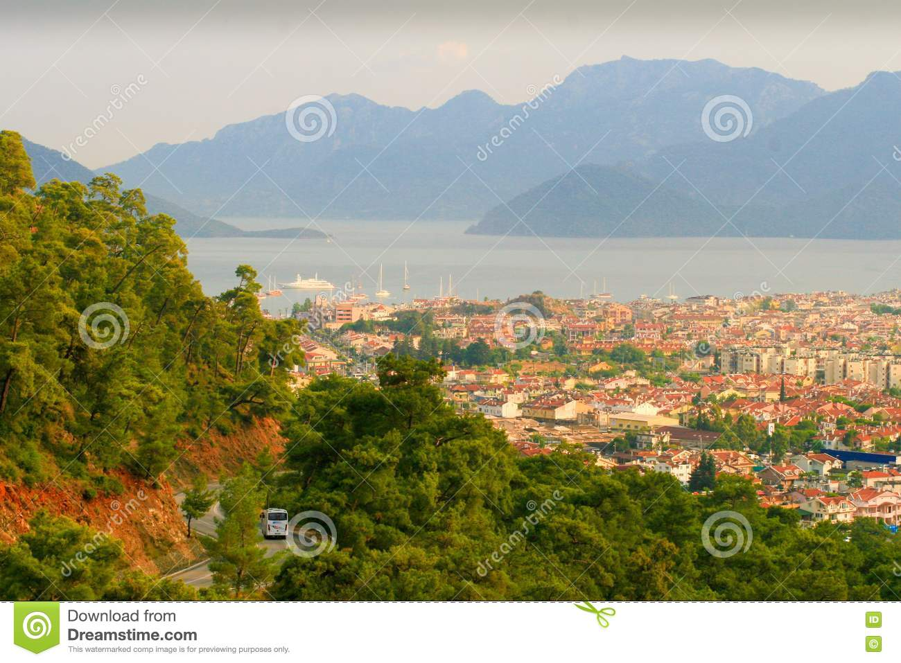 The City Marmaris By The Sea And The Mountains In Stock ...