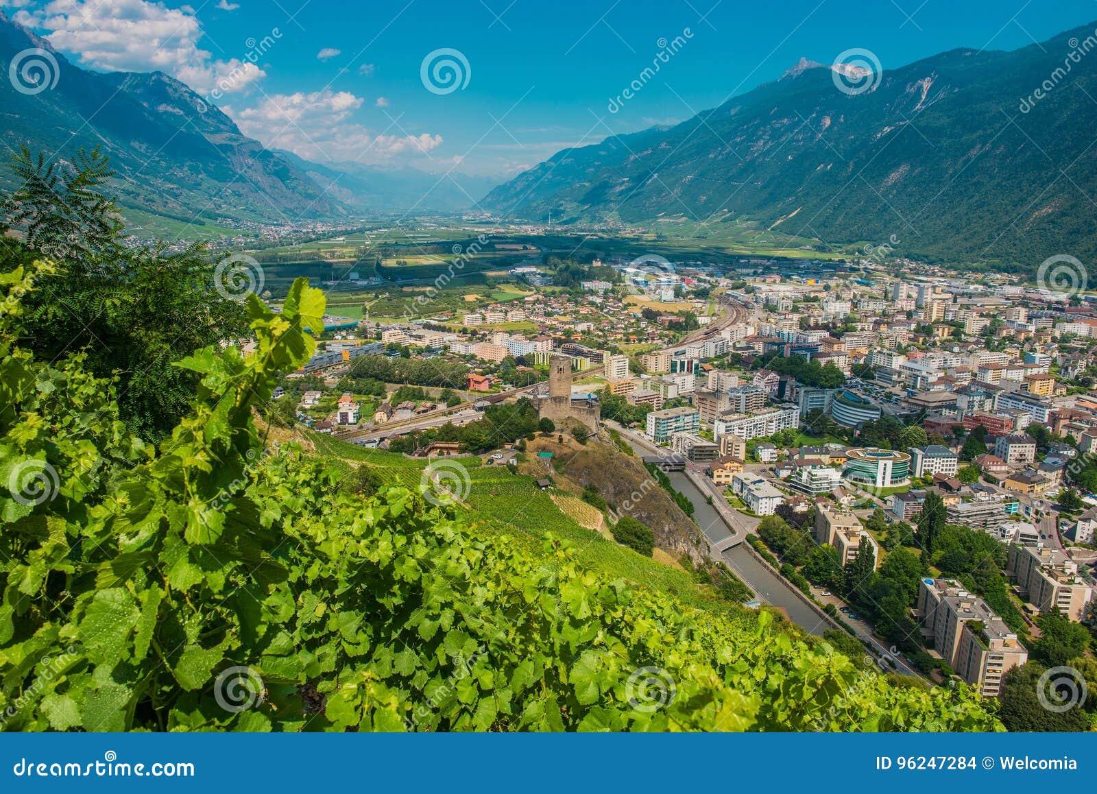 City Of Martigny Switzerland Stock Photo Image of cityscape plant