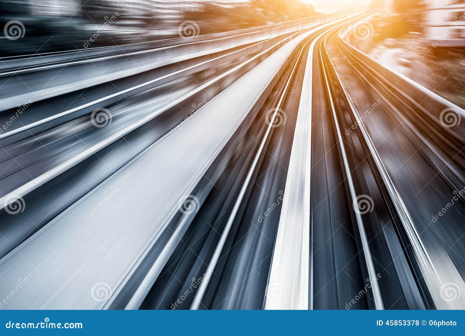 City Metro Rail, motion blur