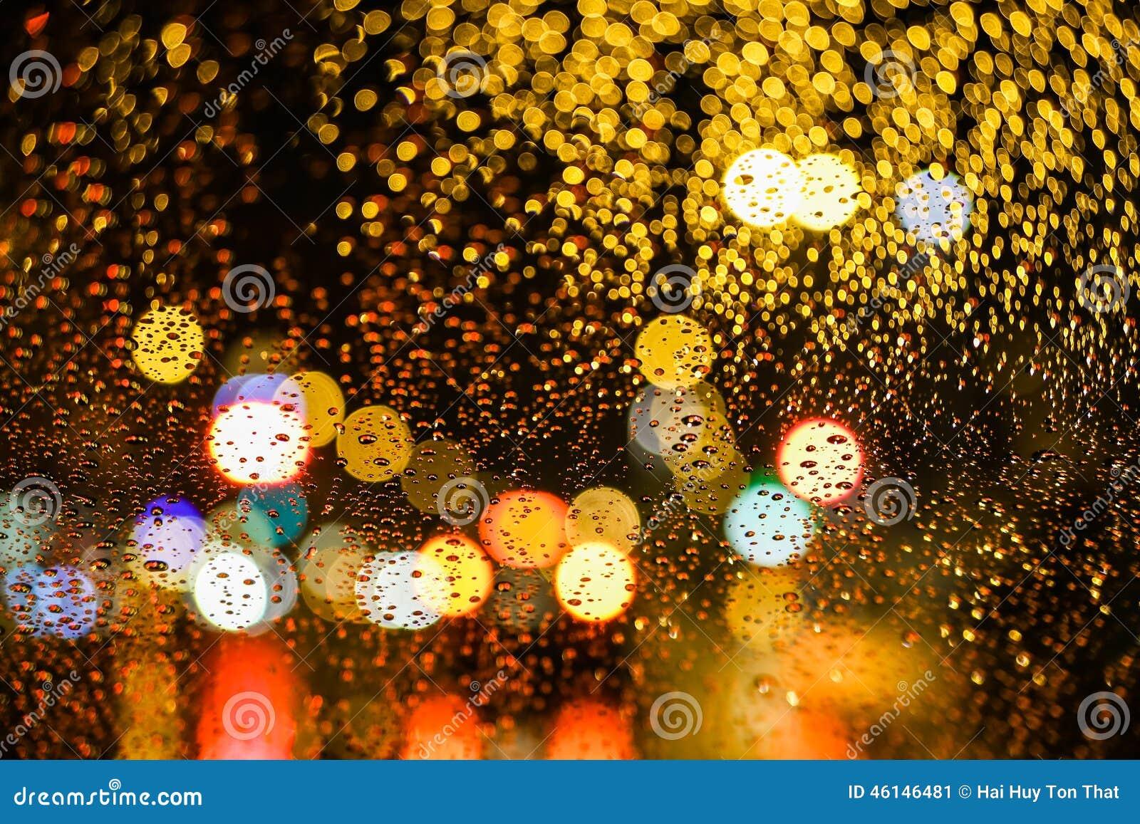City Night Bokeh Stock Photo Image 46146481
