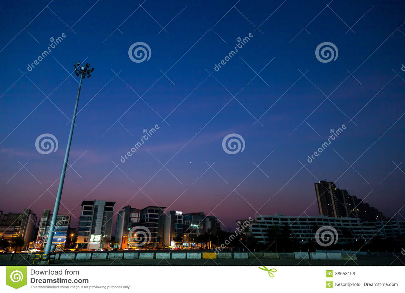 City on night time
