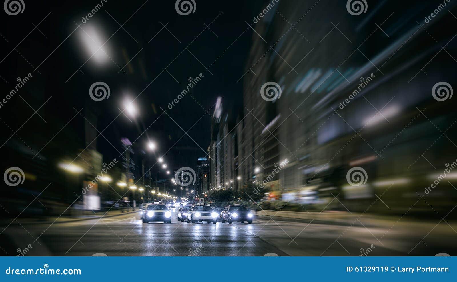 City Night Traffic on the Move