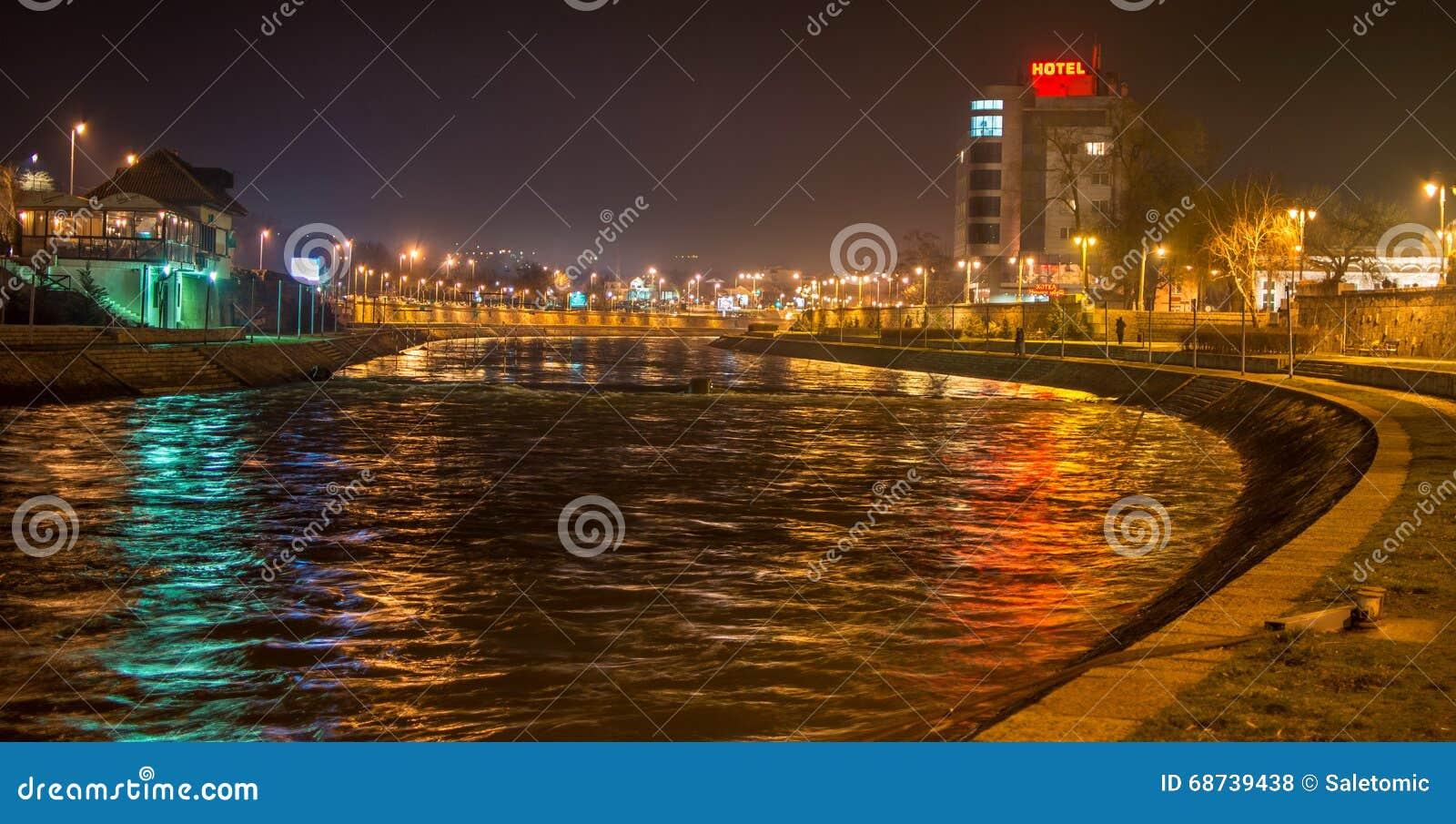 City of Nis riverbank, Nis, Serbia