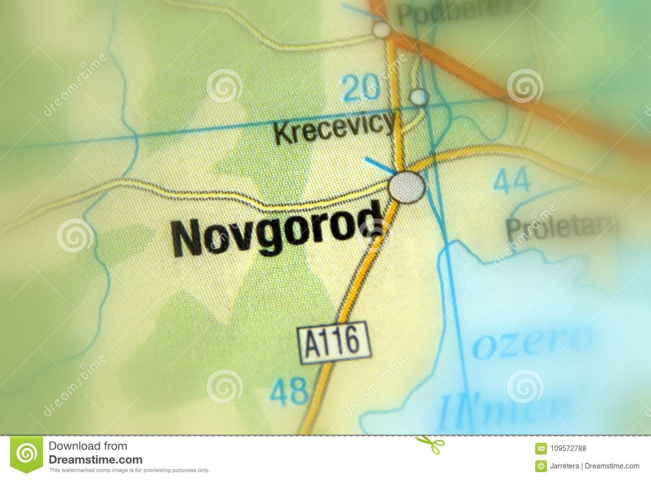 Novgorod Russia Map.Novgorod Russia Eurasia Stock Photo Image Of Town 109572788
