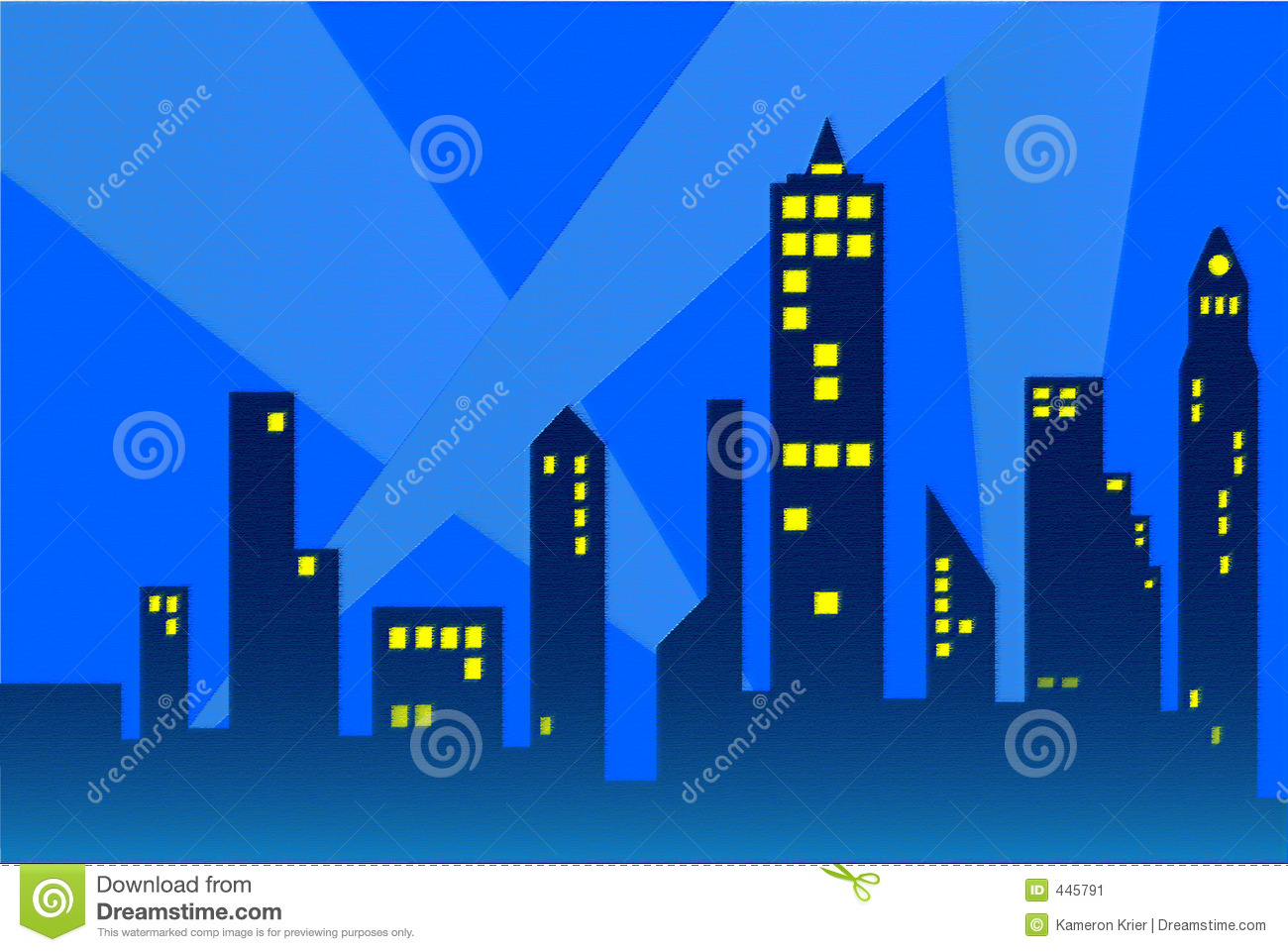 City Outline Stock Image - Image: 445791