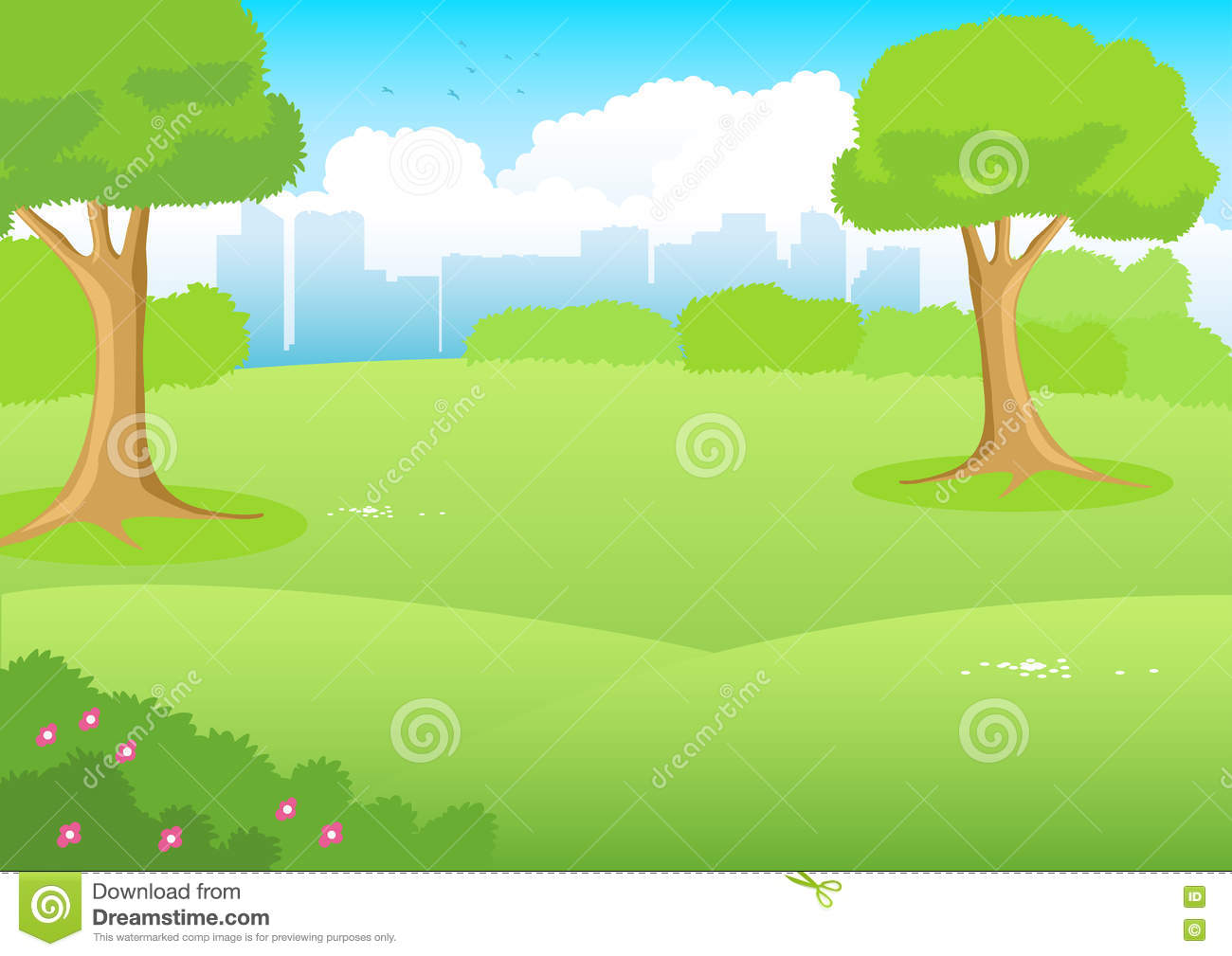City Park Cartoon stock vector. Illustration of nature ...