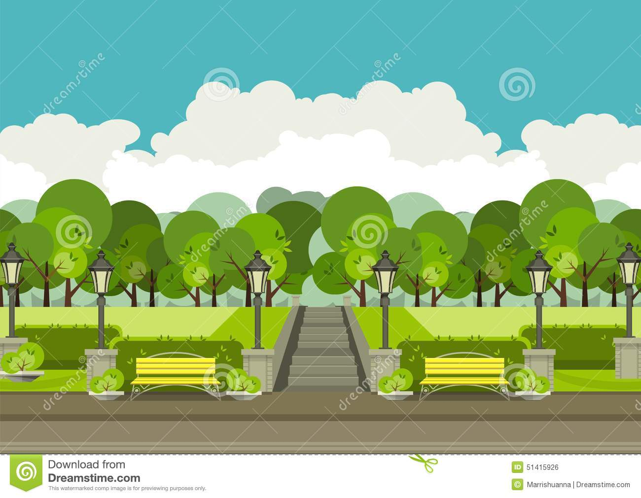 city park vector - photo #1