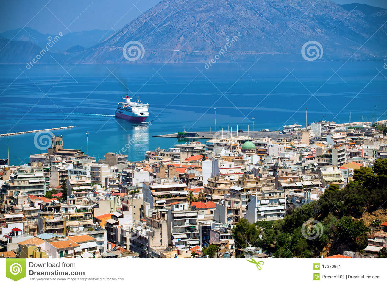 Patra Greece  city pictures gallery : The City Patra, Greece Stock Image Image: 17380661