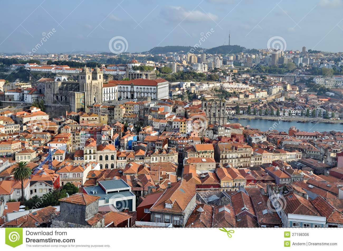 City Of Porto From Above Royalty Free Stock Image Image 27198306
