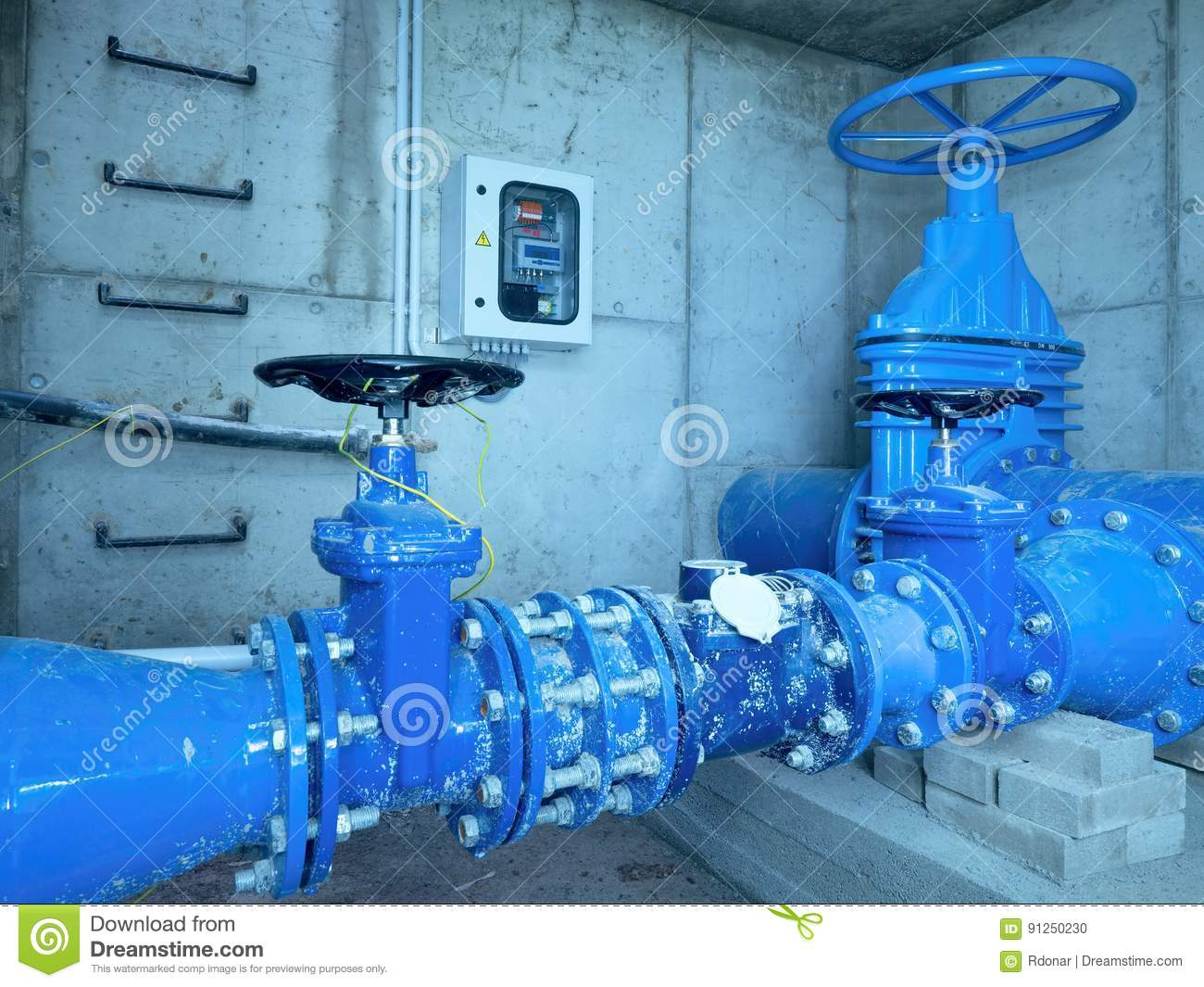 City Potable Water Pipeline In Concrete Shafts With 500mm