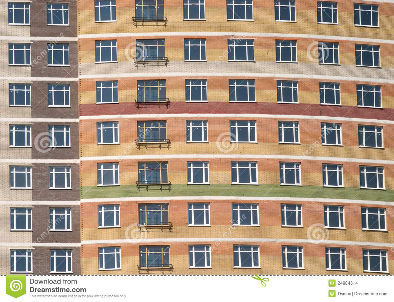 City residential building front view closeup stock images for Exterior view of building