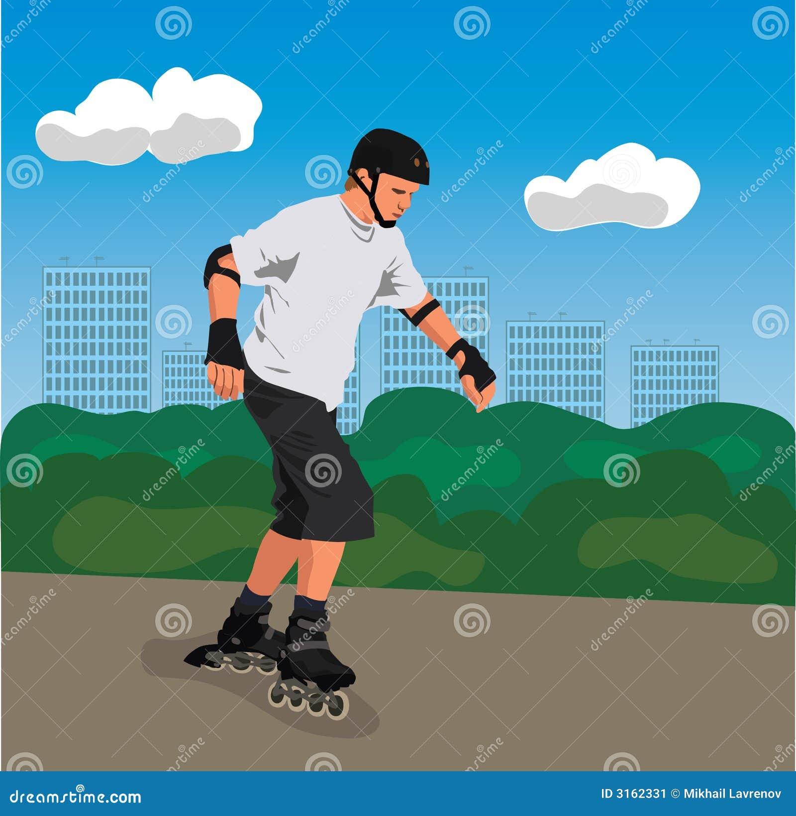 City roller skater