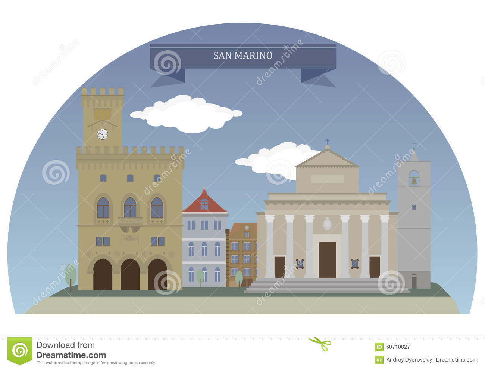 City Of San Marino Stock Vector Image Of History Icon - San marino map download