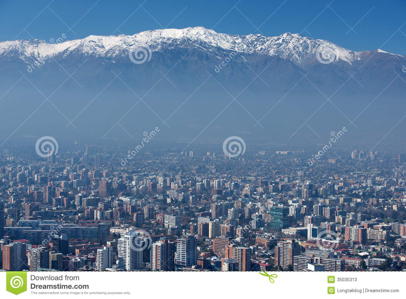 City Of Santiago Capital Of Chile Stock Image Image of misty