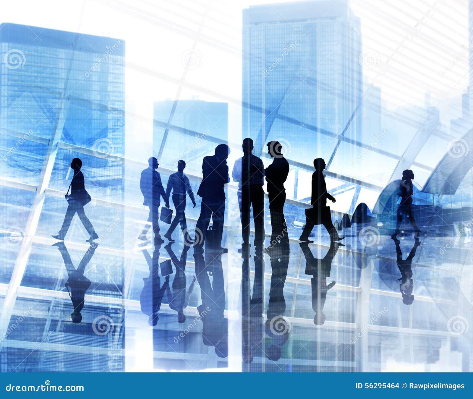 City Scape Business Team Teamwork Meeting Collaboration Concept ...