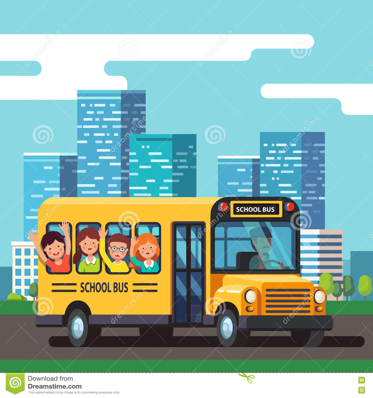 city bus driver clipart - photo #11