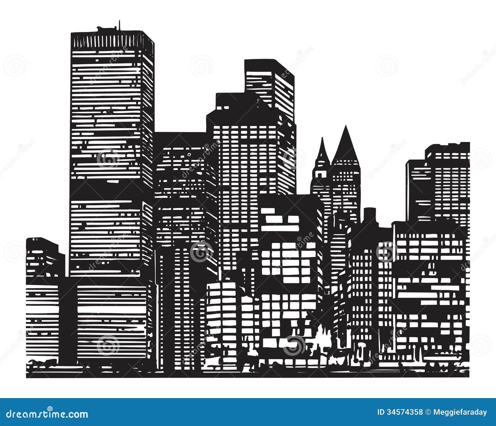 City silhouette royalty free stock photos image 34574358