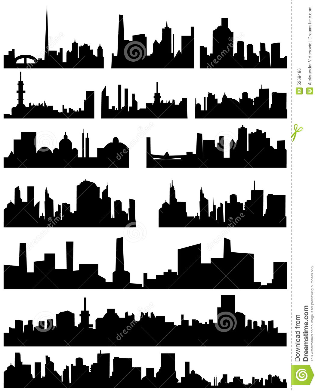Cityscape Wall Stickers City Skyline Royalty Free Stock Image Image 5268486